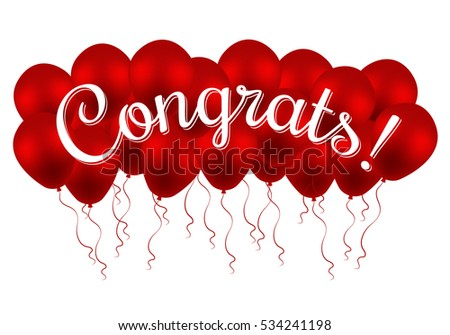 Congrats congratulations banner balloons win birthday stock vector congratulations banner with balloons win birthday party sale opening pronofoot35fo Image collections