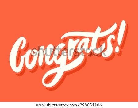 Congrats! Congratulations card. - stock vector