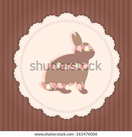 congratulation card design. brown and pink - stock vector
