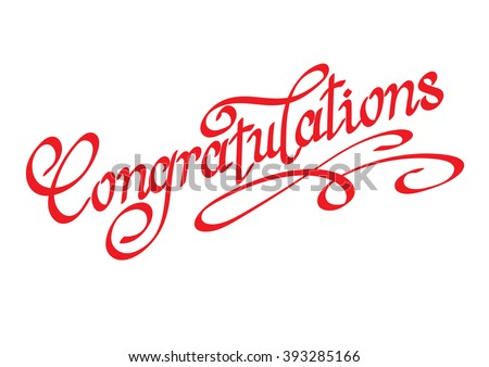 Congratulations,congratulations banner,congratulations card,congratulations business,congratulations text,congratulations letter,congratulations vector,congratulations word,calligraphy fonts,red - stock vector