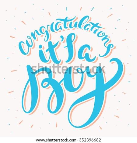 congratulations its a boy greeting card