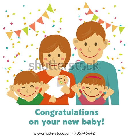 congratulations on your new baby vector
