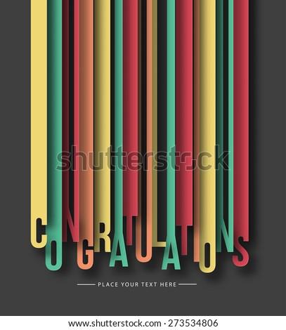 Congratulations Text Made Modern Trendy Design Template . Vector design  - stock vector