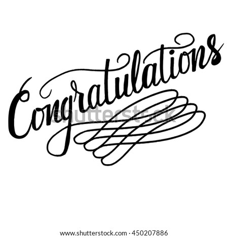 Congratulations congrats card hand drawn brush stock vector congratulationstexttemplate banner card vector illustration hand drawn typographic pronofoot35fo Images