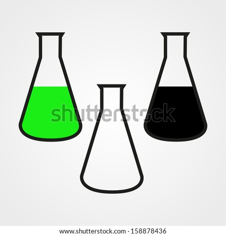 Conical Flask, icon, isolated on white background