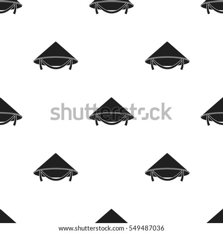 Conical hat icon in black style isolated on white background. Hats pattern stock vector illustration.