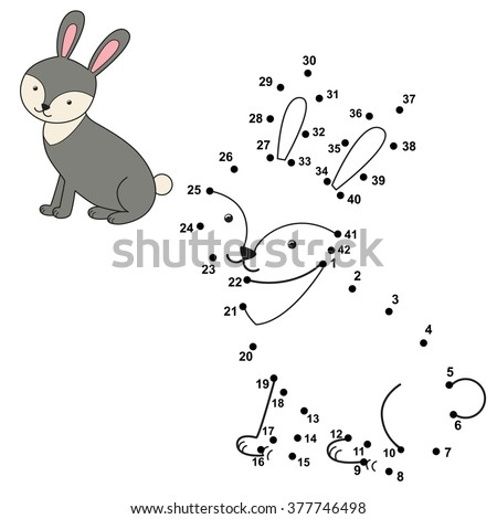 Connect The Dots To Draw Cute Rabbit And Color It Educational Numbers Coloring