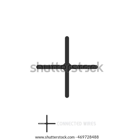 Connected Wires Electronic Circuit Symbols Stock Photo (Photo ...