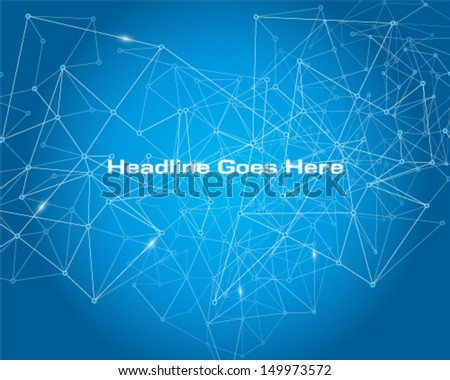 Connecting dot - stock vector