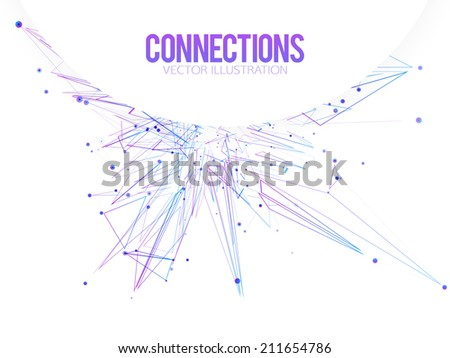 Connecting dots - Connection Business and Science concept. Vector illustration. - stock vector