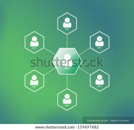 Connecting people - Network concept - stock vector