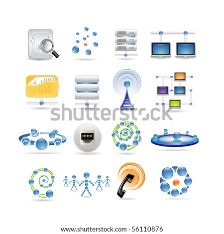 connection and Internet icons - stock vector