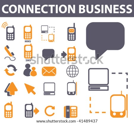connection business. vector