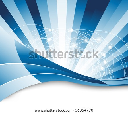 Connection concept abstraction - background. Vector illustration - stock vector
