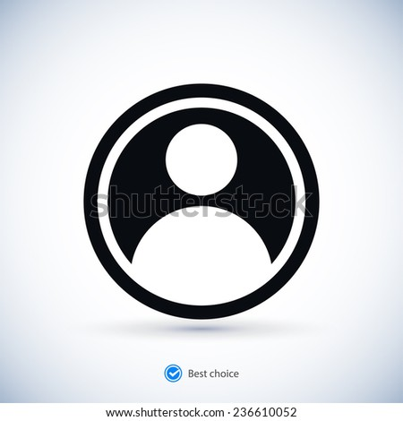 connection icon, vector illustration. Flat design style - stock vector
