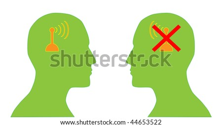 Connection lost - stock vector