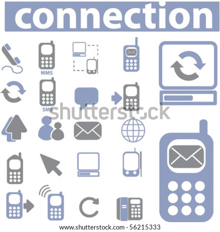 connection media signs. vector - stock vector