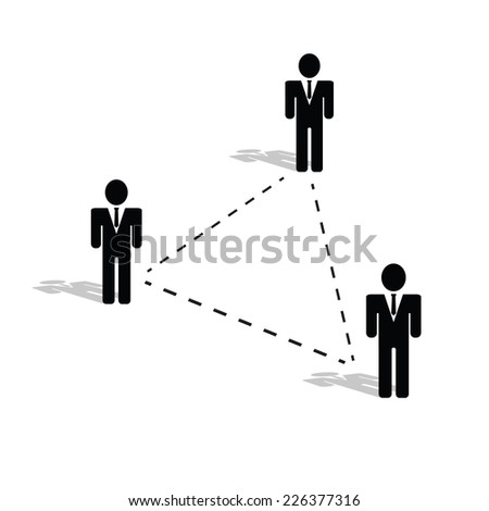 connection people icon illustration black silhouette