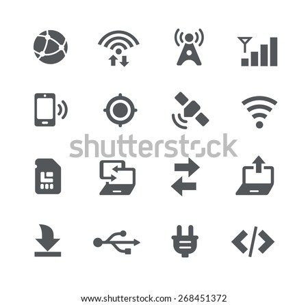 Connectivity Icons // Apps Interface - stock vector