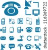 connecton icons set, vector - stock vector