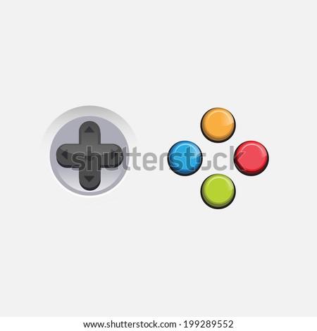 console game button - vector - stock vector