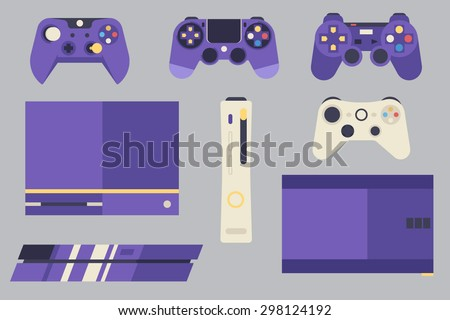 Console Gaming Vector Pack  Layered EPS 10 100% Vector Easy to edit Fully resizable  - stock vector