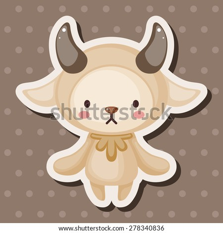 Constellation Aries theme elements - stock vector