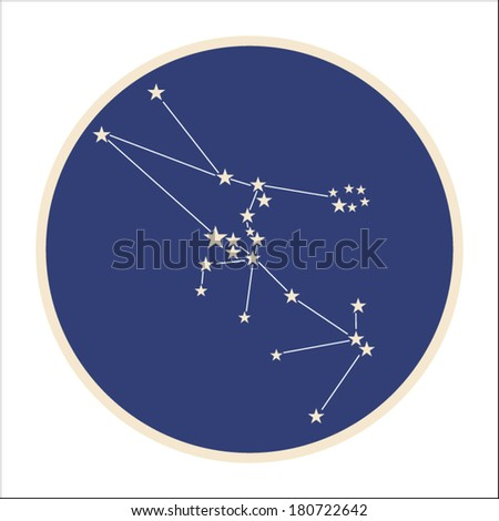 Constellation of zodiac sign Taurus (The Bull).