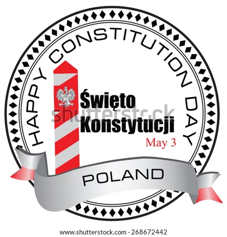 Constitution Day - May 3 in Poland. Vector illustration. - stock vector