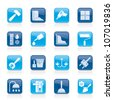Construction and building equipment Icons - vector icon set 1 - stock vector
