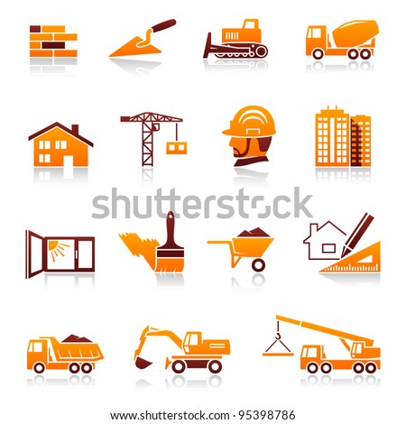 Construction and real estate icon set - stock vector
