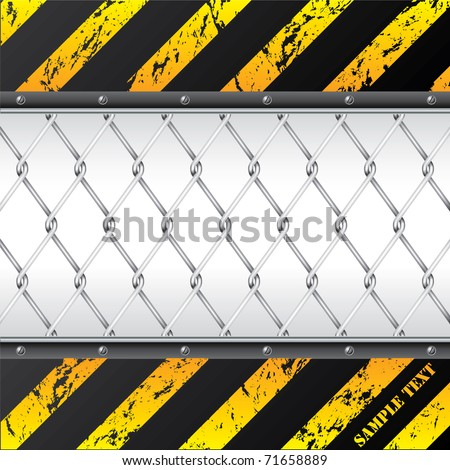 Construction background design with wired fence - stock vector