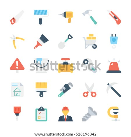 Construction Colored Vector Icons 1