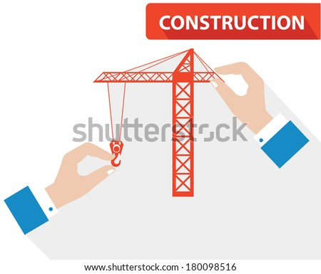 Construction concept,vector - stock vector