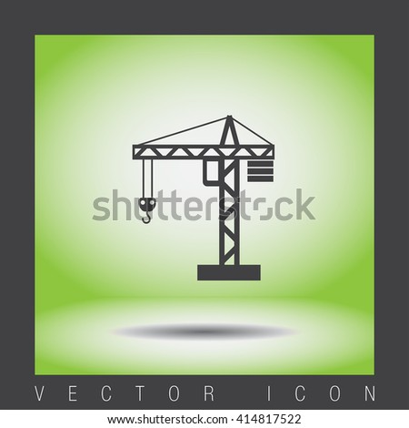 Construction Crane vector icon