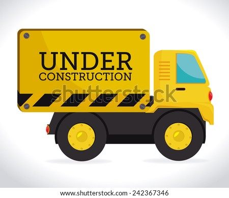 Construction design over white background, vector illustration.