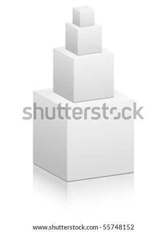 construction from boxes - stock vector