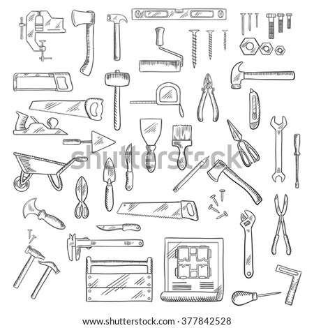Hand tools diagram electrical work wiring diagram construction hand tools icons hammer axe stock vector hd royalty rh shutterstock com network diagram tool sentence diagram tool ccuart Image collections