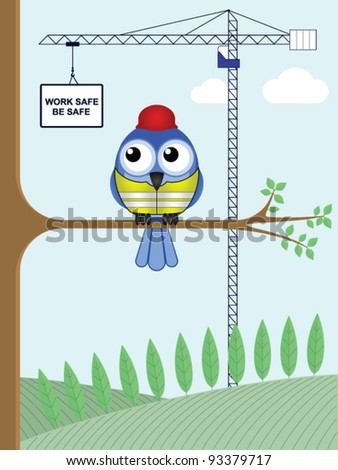 Construction health and safety work safe be safe - stock vector