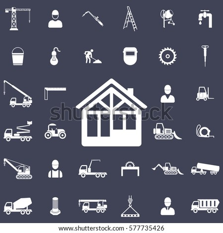 Construction house icon. Construction icons universal set for web and mobile