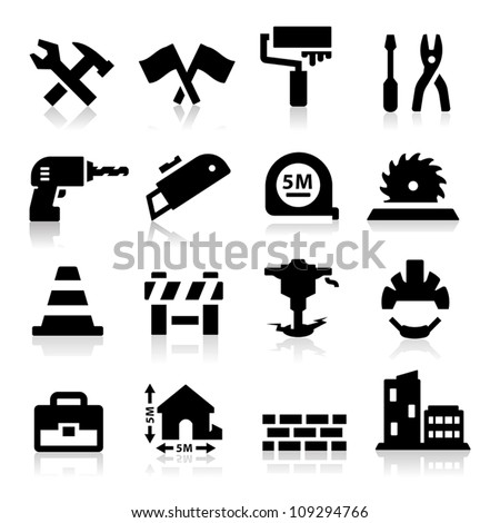 Construction icon - stock vector