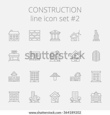 Construction icon set. - stock vector