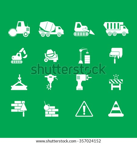 Construction Icons Set. - stock vector