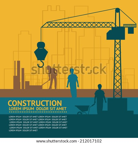 Construction infographics - stock vector