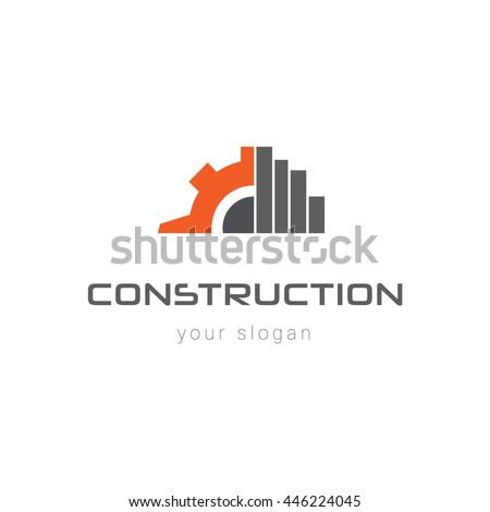 Construction Logo Template Stock Vector 446224045 ...