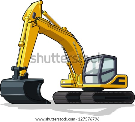 Construction Machine - Bulldozer, Cement Truck, Haul truck & Excavator - stock vector