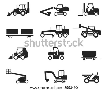 Construction Machinery Vector - stock vector