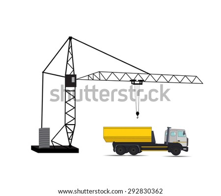 Construction Machinery. Vector Illustration. EPS10 - stock vector
