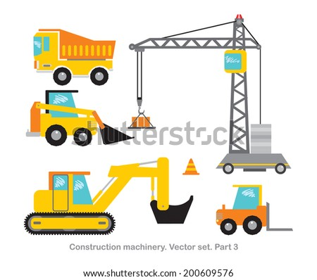 Construction machinery vector set. Part 3