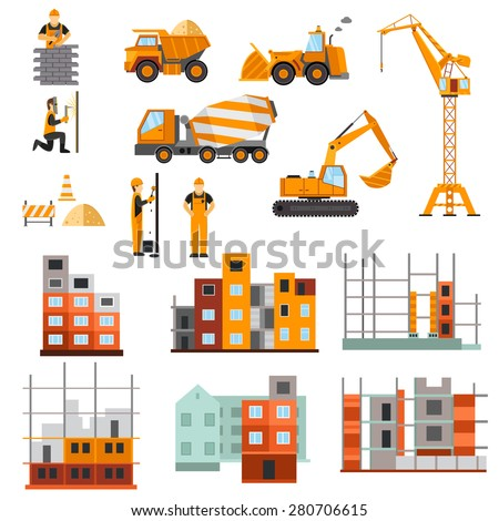 Construction machines builders house building process for Process for building a house
